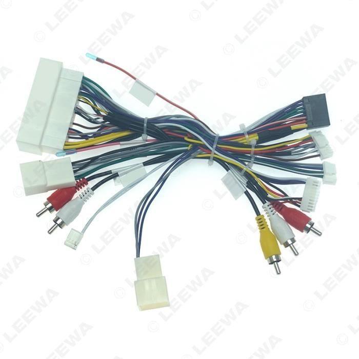 Câble de démarrage,LEEWA voiture Audio Android 16PIN puissance câblage câble adaptateur avec boîte Canbus pour - Type Wire harness