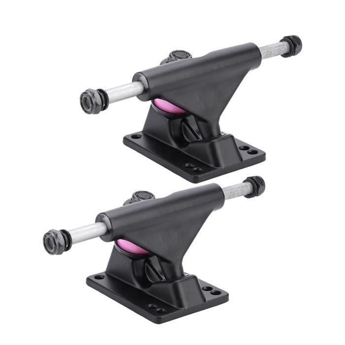 YOSOO Longboard Truck 2pcs Trucks Skateboard Combo 3.25inch Roues Abec Longboard Skatebaord Accessoire (Couleur aléatoire de PU