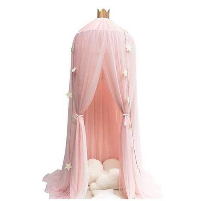 ZS10185-Tentes de dôme, Rideau de lit, Moustiquaire fantastique,Ciel de Lit Avec étoiles Décoration pour chambre des enfants - R