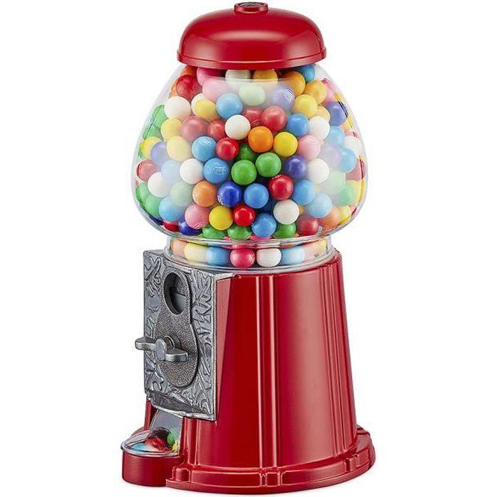 Machineà bonbons American Dream Rouge Tirelire et distributeur de bonbons, de chewing gum... Métal-Verre 23 x 11 x 12 cm