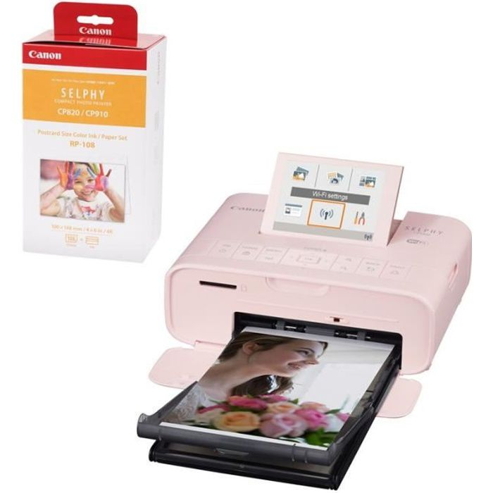 Canon Imprimante Selphy Cp1300 Rose Garantie 2 Ans + consommable Rp108