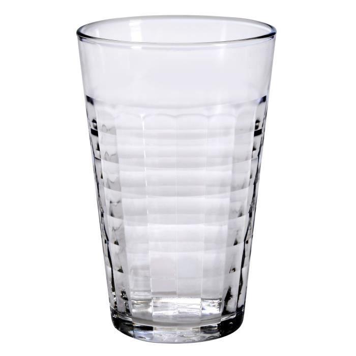 DURALEX Lot de 6 chopes en verre Prisme Transparent - 50 cl