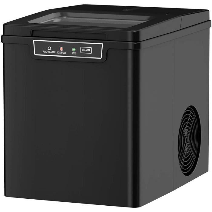 GOPLUS Machine à Glaçons 12KG en 24H avec Réservoir d'Eau 1,85L,9 Glaçons en 8 Min, Machine à Glace avecIndicateurs Automatiques