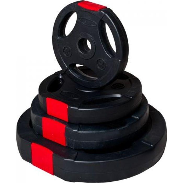 Gorilla Sports Disques en plastique de 10 kg av…