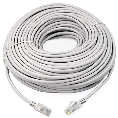 Link e : Cable reseau Rj45 100m Cat.6 Gris, ethernet, qualité Pro, Haut débit, Connexion Internet Box, Tv, Pc, Console, Ps4, Ps3,