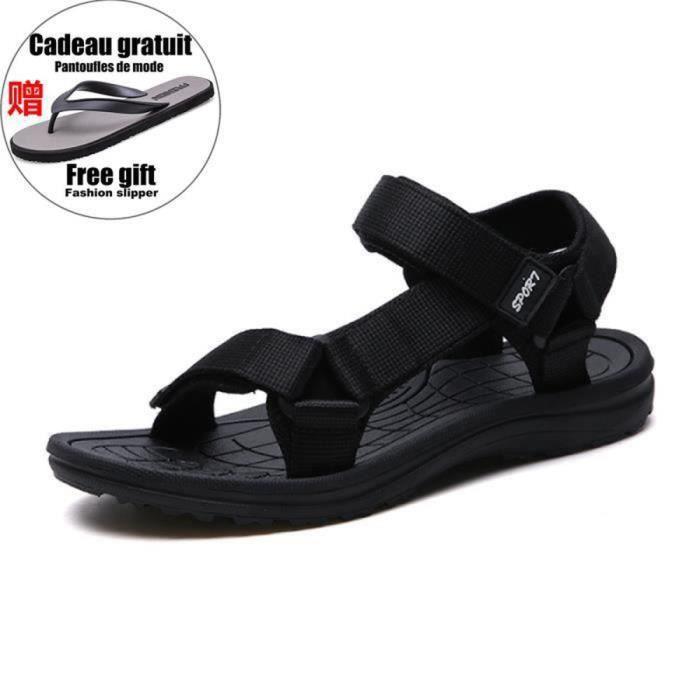 Sandales d'extérieur homme Chaussures de plage confortables et respirantes Matière à séchage rapide Antidérapant 2 coloris LXN001BLC