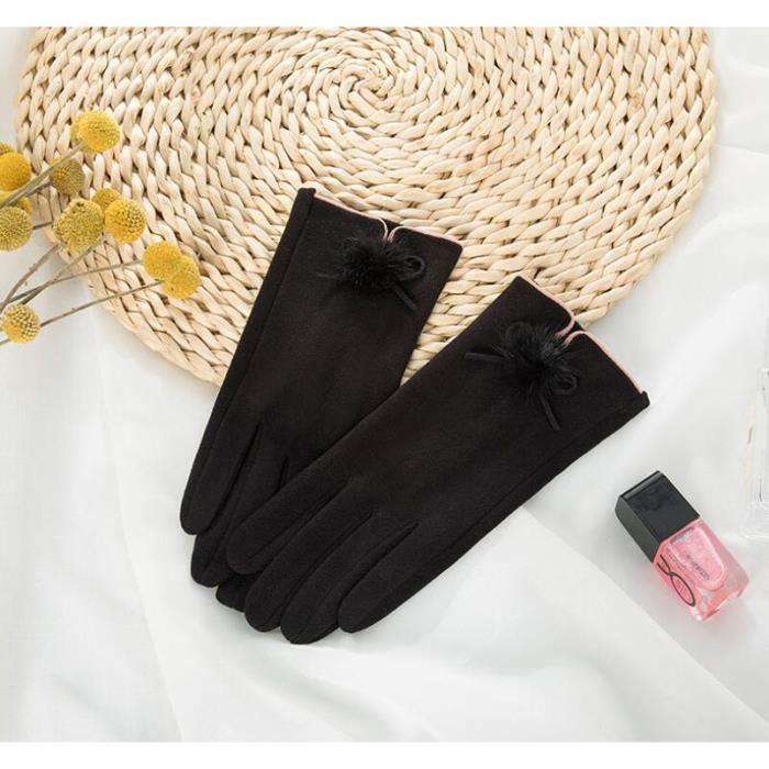 Noir Des gants