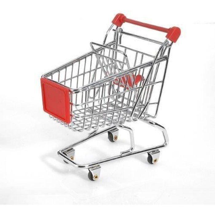 Mini chariot de courses rouge