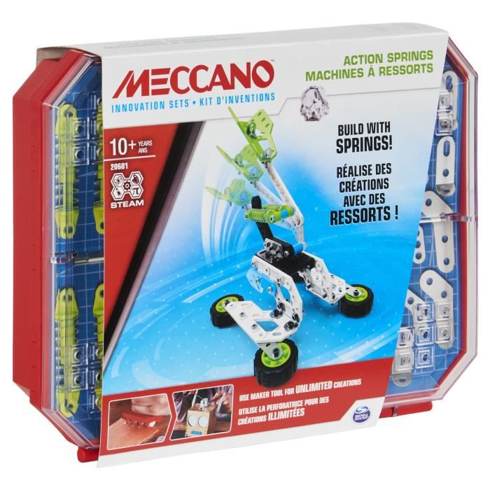 MECCANO - SET 4 KIT COMPLET D'INVENTIONS RESSORTS Meccano - 6053909 - Jeu de construction enfant