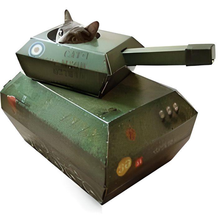 Cabane pour chats - char