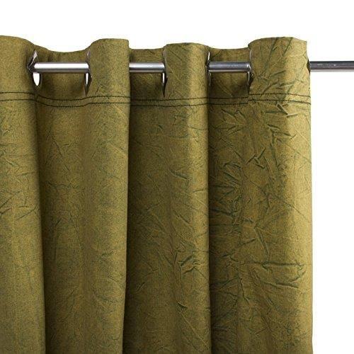 Thedecofactory 150257 Rideau, Coton, Kaki, 150 x 40 x 3 cm 150257