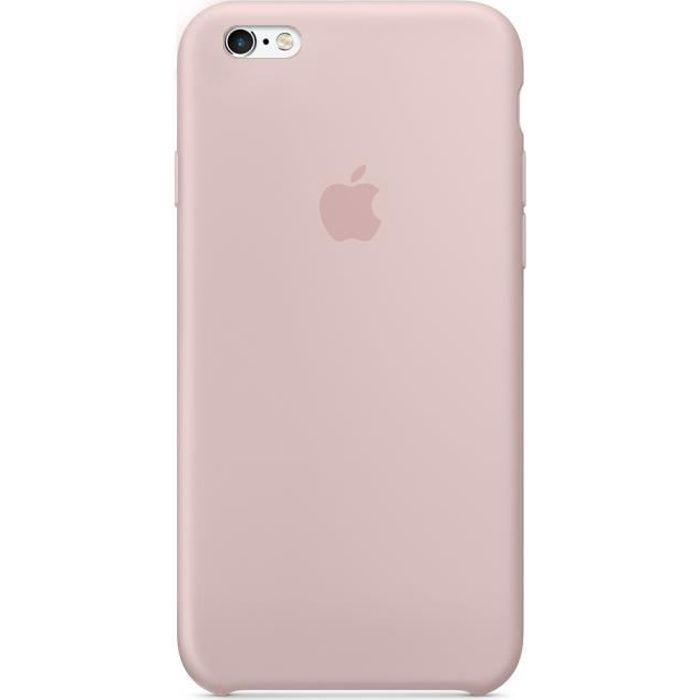 apple coque en silicone pour iphone 6p 6sp rose d