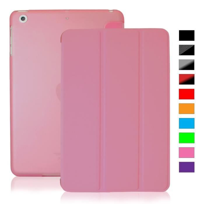 coque ipad mini 1 2 3 retina khomo clair rose prix pas cher cdiscount. Black Bedroom Furniture Sets. Home Design Ideas