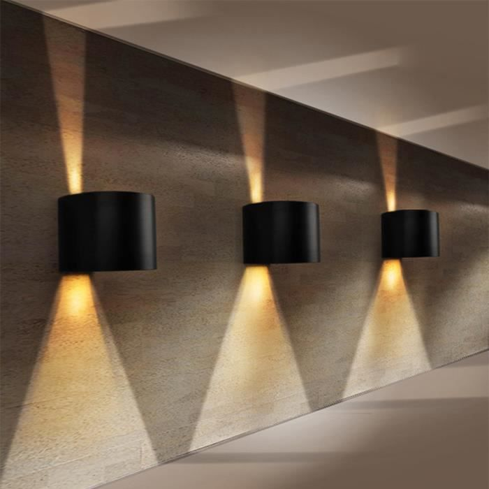 applique murale led lampe moderne 7w lumi re blanche chaud vers haut et bas mur de feu ovale. Black Bedroom Furniture Sets. Home Design Ideas