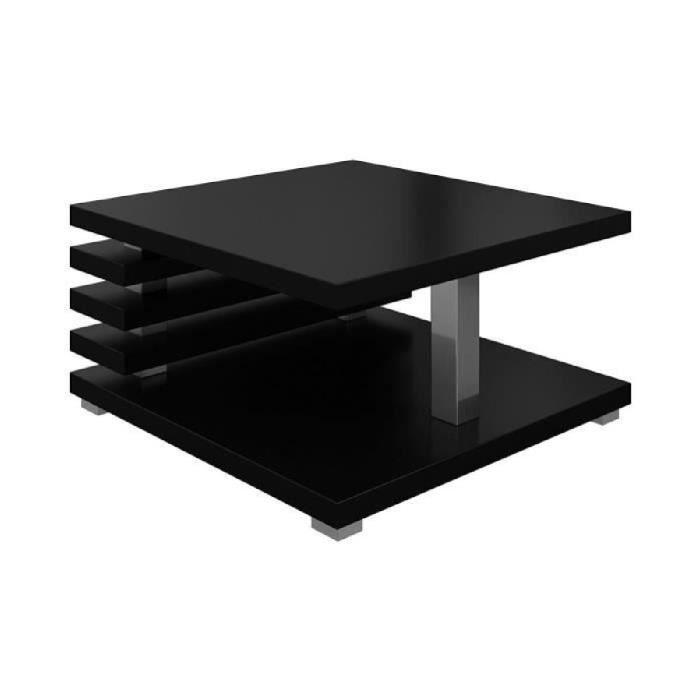 table basse oslo 60x60cm noir mat achat vente table. Black Bedroom Furniture Sets. Home Design Ideas