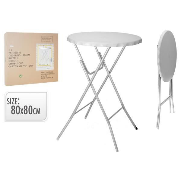 Table bar pliable blanche achat vente mange debout for Achat table bar