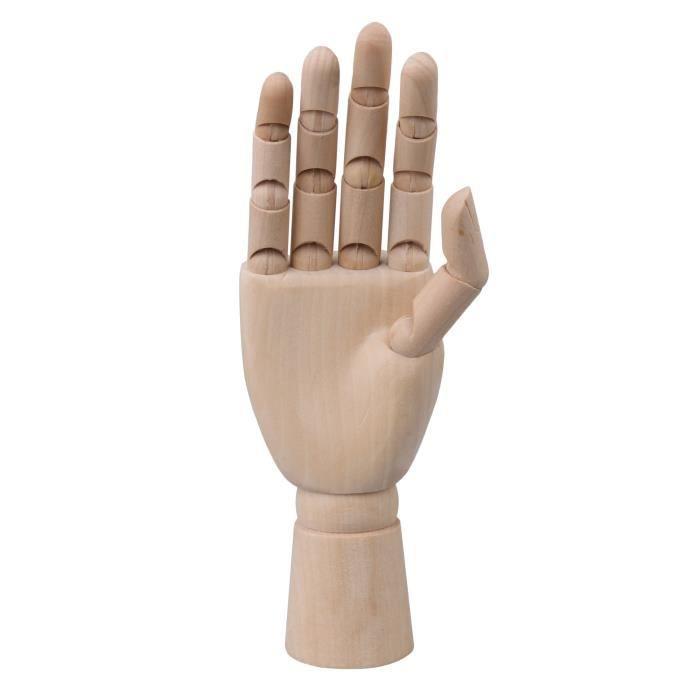 droite Rokoo Mannequin sculpt/é en bois articul/é en bois sculpt/é /à la main gauche