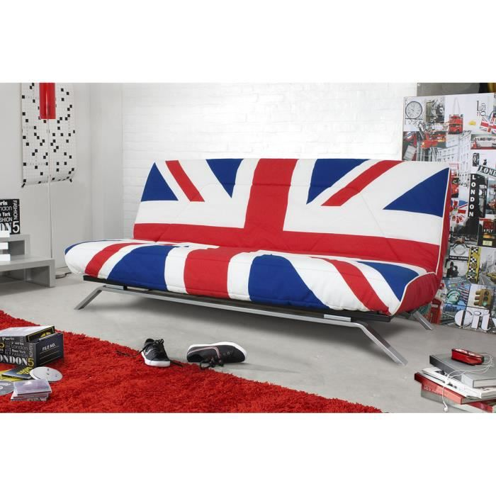 Canap convertible drapeau anglais univers canap for Canape style anglais