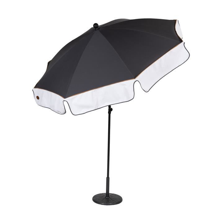 parasol droit rond m t inclinable sellier 200cm achat vente parasol ombrage parasol droit. Black Bedroom Furniture Sets. Home Design Ideas