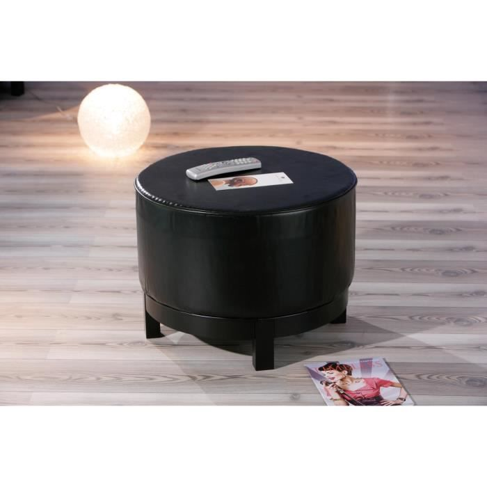 grand pouf piazza couleur noir achat vente pouf poire polyur thane bois mdf cdiscount. Black Bedroom Furniture Sets. Home Design Ideas