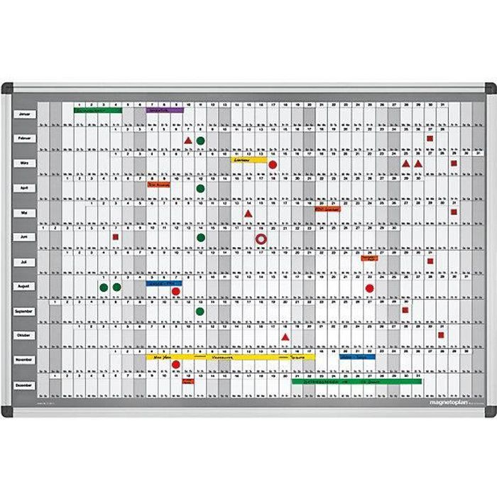 Grand Calendrier Mural Pour Planning.Magnetoplan Kit De Planning Annuel Manager Permanent