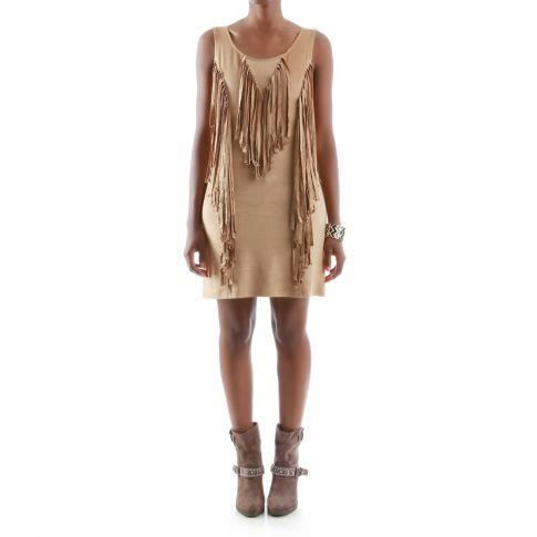 Robe Indienne A Franges Camel Achat Vente Robe Cdiscount