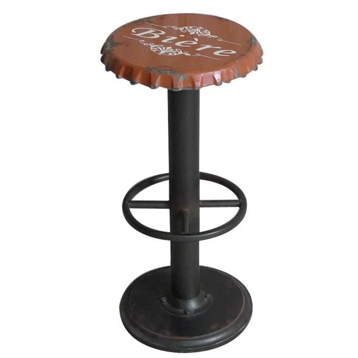 tabouret de bar capsule orange vintage achat vente. Black Bedroom Furniture Sets. Home Design Ideas
