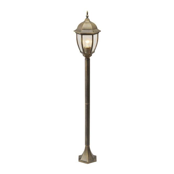 """LAMPE DE JARDIN  Paris Prix - Lampadaire Extérieur """"Burton"""" Noir"""