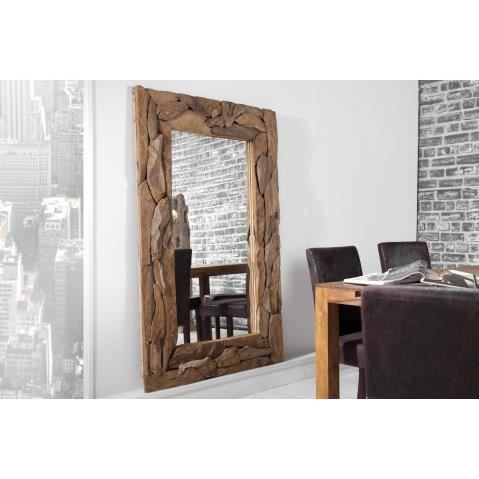 miroir design en bois flotte timber 160 cm achat vente. Black Bedroom Furniture Sets. Home Design Ideas