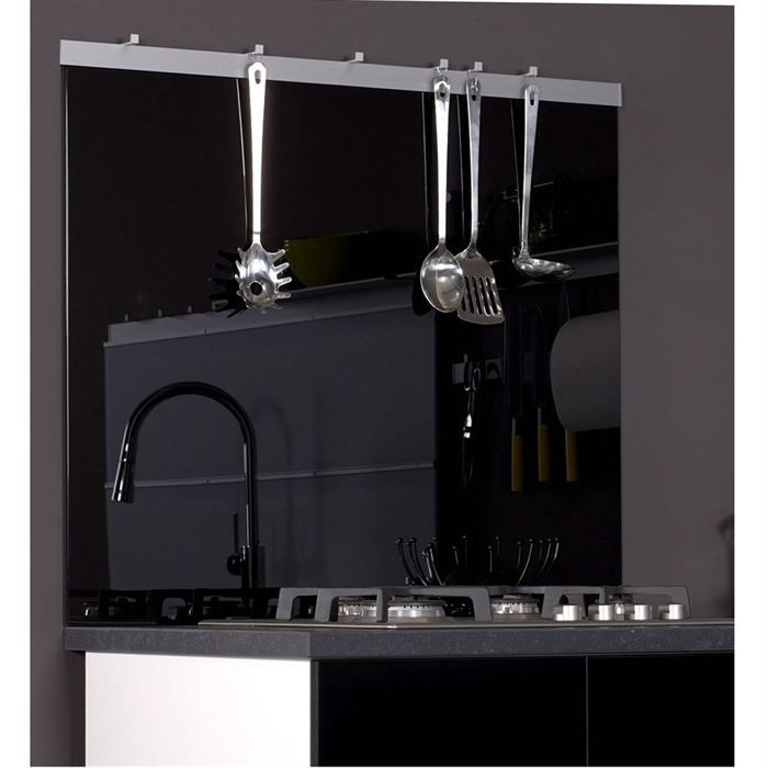 fond de hotte en verre s curit noir l900 h750 achat. Black Bedroom Furniture Sets. Home Design Ideas