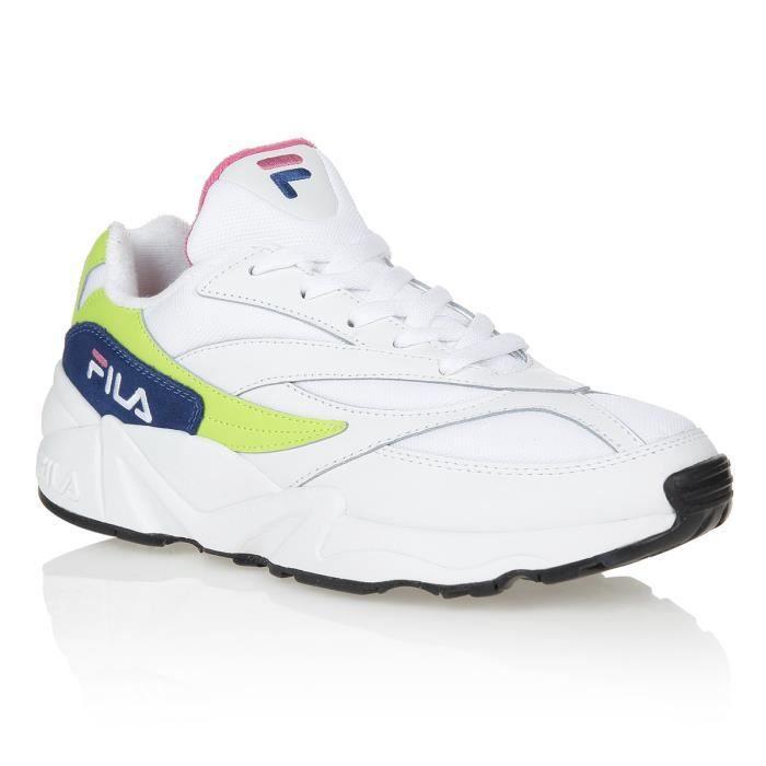 FILA Baskets 94 - Homme - Blanc et jaune