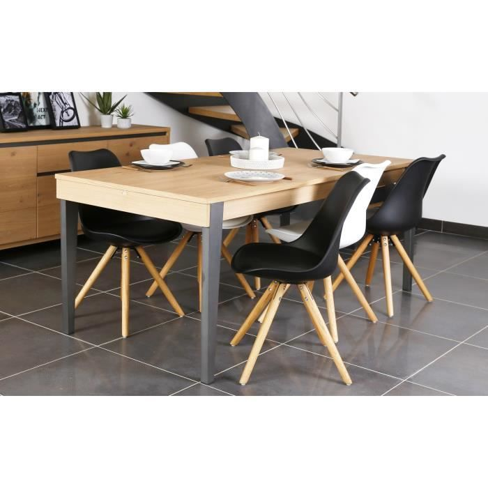 Table extensible 12 personnes maison design for Table salle a manger 8 personnes