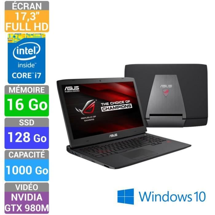 asus rog pc portable gamer g751jy t7390t achat vente. Black Bedroom Furniture Sets. Home Design Ideas