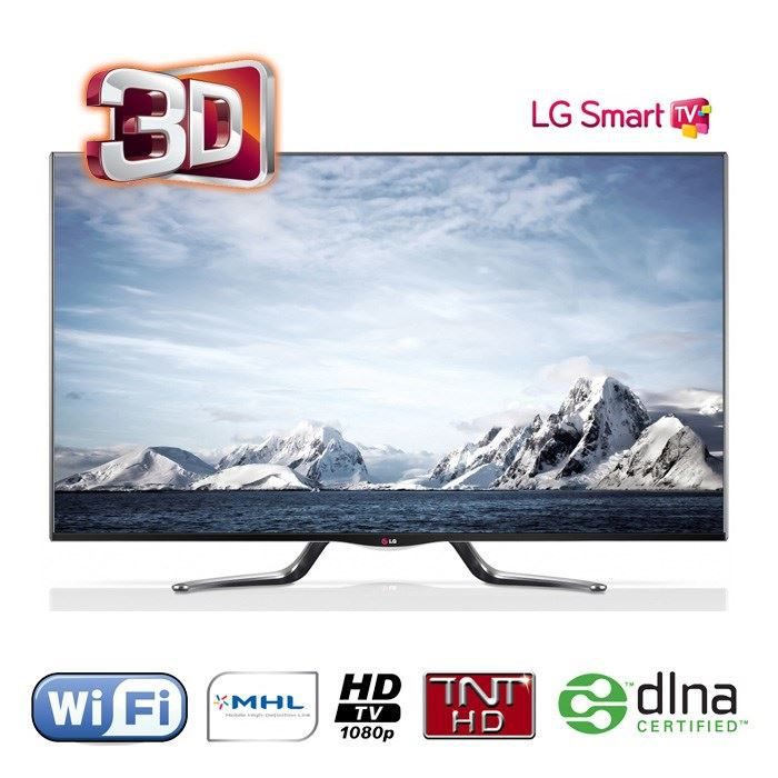 lg 47la790v smart tv 3d 119 cm t l viseur led prix pas. Black Bedroom Furniture Sets. Home Design Ideas