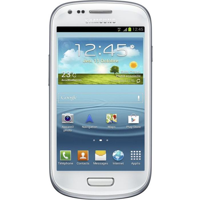 samsung galaxy s3 mini i8190 blanc achat smartphone pas. Black Bedroom Furniture Sets. Home Design Ideas