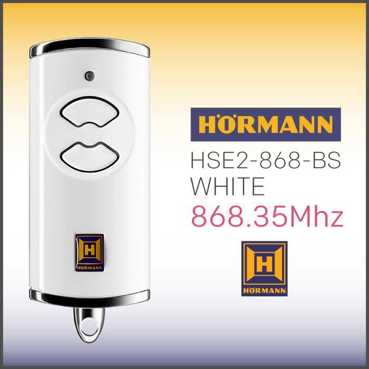 Porte De Garage Hormann Pas Cher télécommande hÖrmann hse2 868-bs white , 868,35 mhz - achat