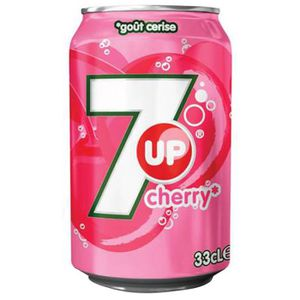 Soda - Thé glacé 7up - 7up Cherry 33cl (pack de 24)
