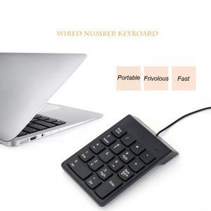 CLAVIER D'ORDINATEUR Zareste®Clavier numérique noir de mini clavier USB