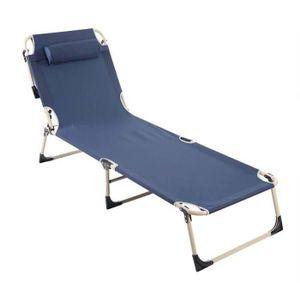 CHAISE LONGUE Chaise longue portable fauteuil de jardin pliant e