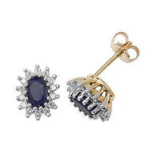 0.30 CT Simulé Diamant 5 mm Cultured Pearl Halo Clous D/'Oreilles 14K Or Jaune