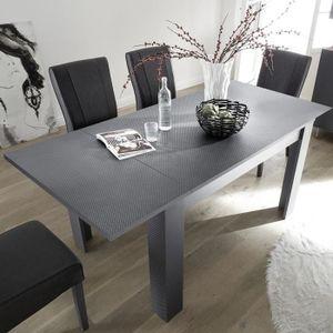 TABLE À MANGER SEULE Table à manger extensible 140 cm grise CASTELLI Gr