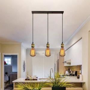 LUSTRE ET SUSPENSION Suspension Luminaire E27 Douille 3 Lampes Industri