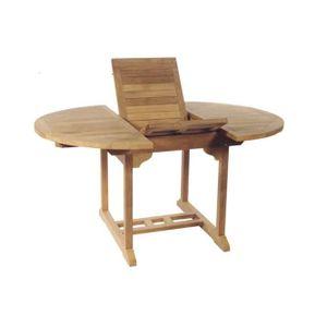 Table de jardin en bois ronde - Achat / Vente Table de ...