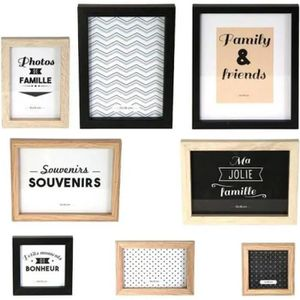 CADRE PHOTO THE HOME DECO FACTORY Lot de 8 Cadres Photo M6