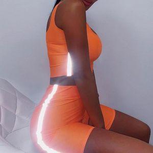 Ensemble de vêtements ENSEMBLE DE VETEMENTS Femmes Sport lumineux Mode e