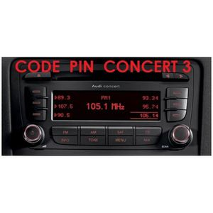 unlock code poste radio concert 3 audi a3 a4 a6 tt. Black Bedroom Furniture Sets. Home Design Ideas