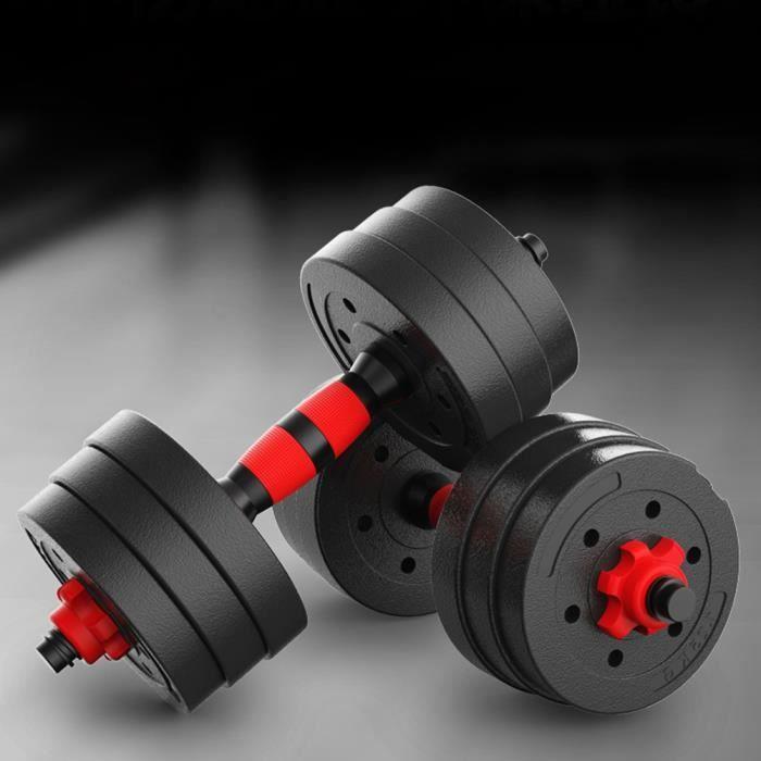 Haltère Ensemble 20 kg - D'haltères Musculation Réglable en Fonte