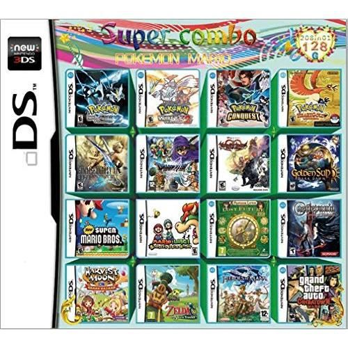 208 Games in 1 NDS Game Pack Card Super Combo for Nintendo DS 2DS 3DS New3DS XL
