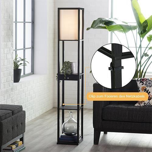 Étagère Lampe de Sol Perles Pendantes commutateur Colonne de Bois Massif créative Moderne Simple étagères Verticales Salon Chinois