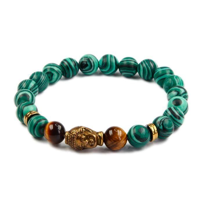 Perles De Pierres Precieuses Bracelet Religieux Perles Rouge D'Agate Bracelet Malachite